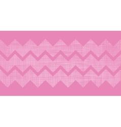 Pink fabric textured chevron stripes horizontal vector image