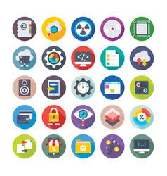 seo and digital marketing icons 4 vector image vector image