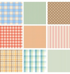 Set of 9 seamless abstract retro pattern vector image vector image