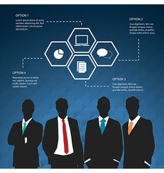 Silhouettes of Businessman four options concept vector image