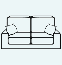 Sofa furniture vector image vector image