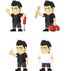Spiky Rocker Boy Customizable Mascot 9 vector image