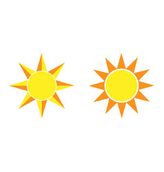 sun black icon element for design vector image
