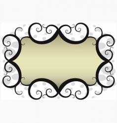 swirl banner vector image