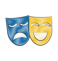 theater masks icon image vector image vector image