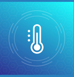 thermometer icon sign vector image vector image