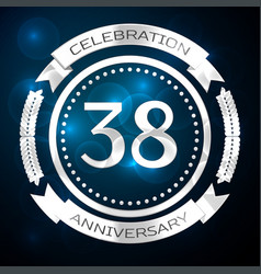 thirty eight years anniversary celebration with vector image vector image