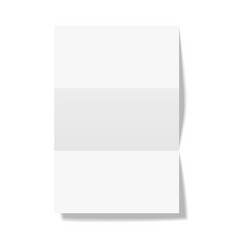 Three times folded paper sheet isolated on white vector