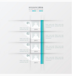 Timeline report design template blue gradient vector