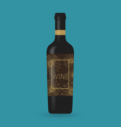 Wine bottle packaging design vector