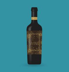 wine bottle packaging design vector image
