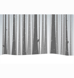winter black forest vector image vector image