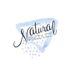 Natural product beauty promo sign vector
