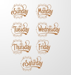 Days decorative text vector