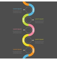 Timeline vertical infographic with ribbon empty vector