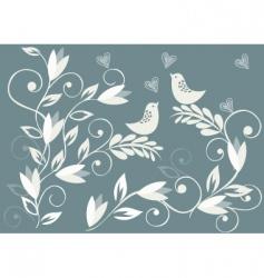love birds background vector image