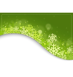 Green xmas background vector