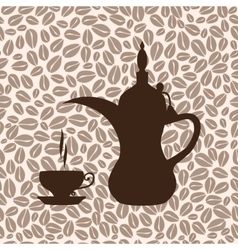 The coffee pot arabic vector