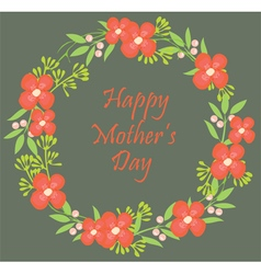 floral wreath mothers vector image