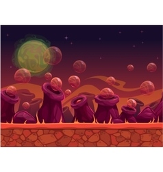 Scary another world seamless background vector