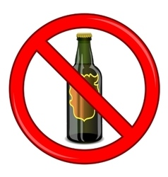 No beer sign isolated vector