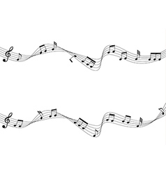 Musical chords moving vector