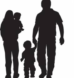 Family silhouette vector