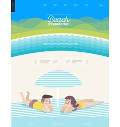 Beach web template vector