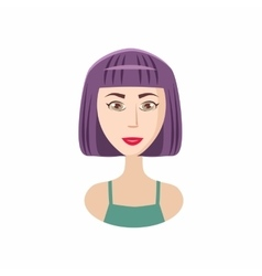 Bob haircut icon cartoon style vector