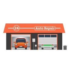 Auto repair garage concept vector