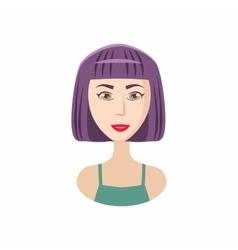 Bob haircut icon cartoon style vector