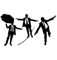 Business men on rope vector