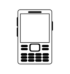 Cellphone with buttons icon image vector
