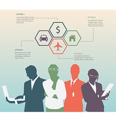 Color Silhouettes of Businessman vector image
