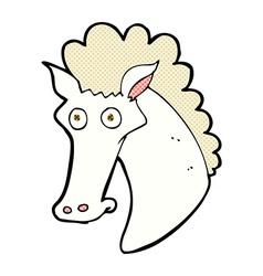 Comic cartoon horse head vector