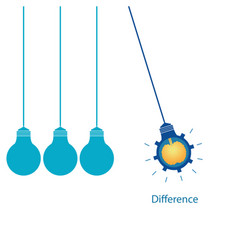 creative light bulb with brain vector image