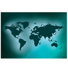 Dark green background with map of the world vector