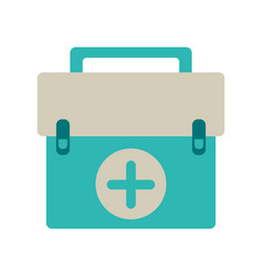 First aid kit emergency equipment vector