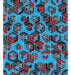 Futuristic continuous multicolored pattern motif vector image vector image