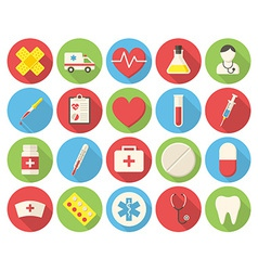 Medical round icons vector image