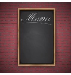Menu chalkboard on white background vector image vector image