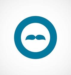 Mustache bold blue border circle icon vector
