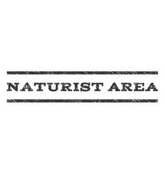Naturist area watermark stamp vector