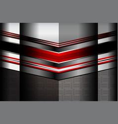 Red dark metallic backgrounds vector