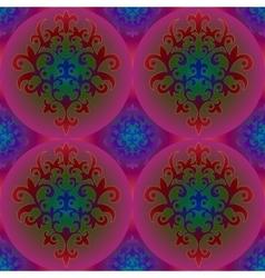 Seamless background pattern arabic floral motifs vector