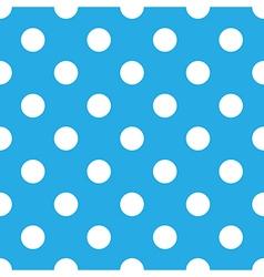 Seamless blue polka dot vector