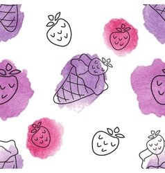 Seamless pattern with ice creams vector image vector image