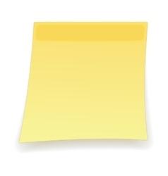 Square yellow sticker cartoon icon vector image