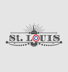 St louis city name vector