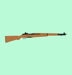 usa america riffle ww2 world war 2 m1 garand vector image